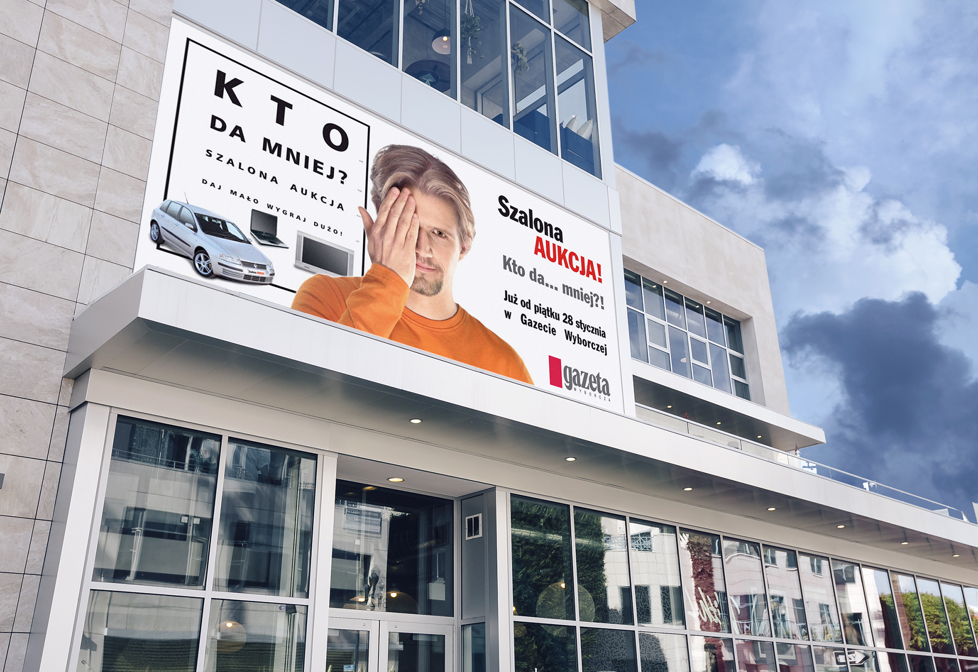 outdoor, plakat reklamowy gazeta wyborcza konkurs aukcja, projekty graficzne, design newspaper, ilustracja, concept art, key visual, art designer Ireneusz Bloch