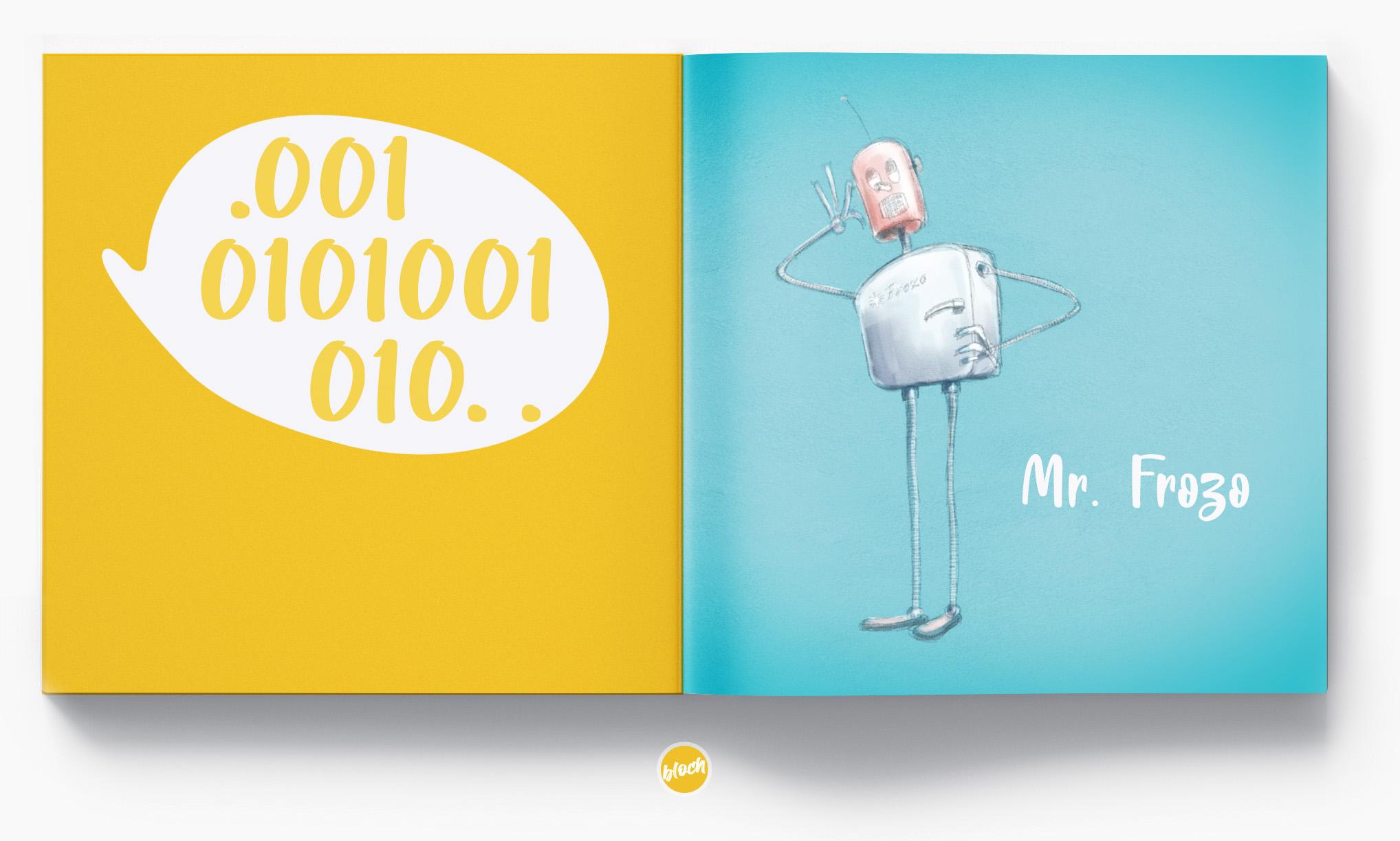 rysunki ilustracje reklamowe storyboard design digital draw, ilustracja, rysunek - digital draw, concept art, Robot Mr. Frozo