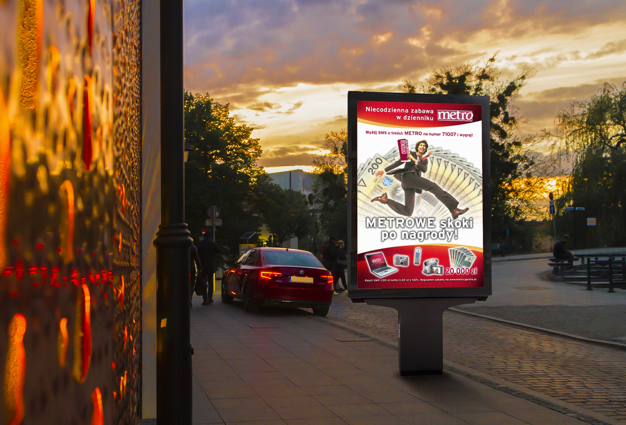 outdoor, plakat citylight reklamowy metro konkurs, projekty graficzne, design newspaper, ilustracja, concept art, key visual, art designer Ireneusz Bloch