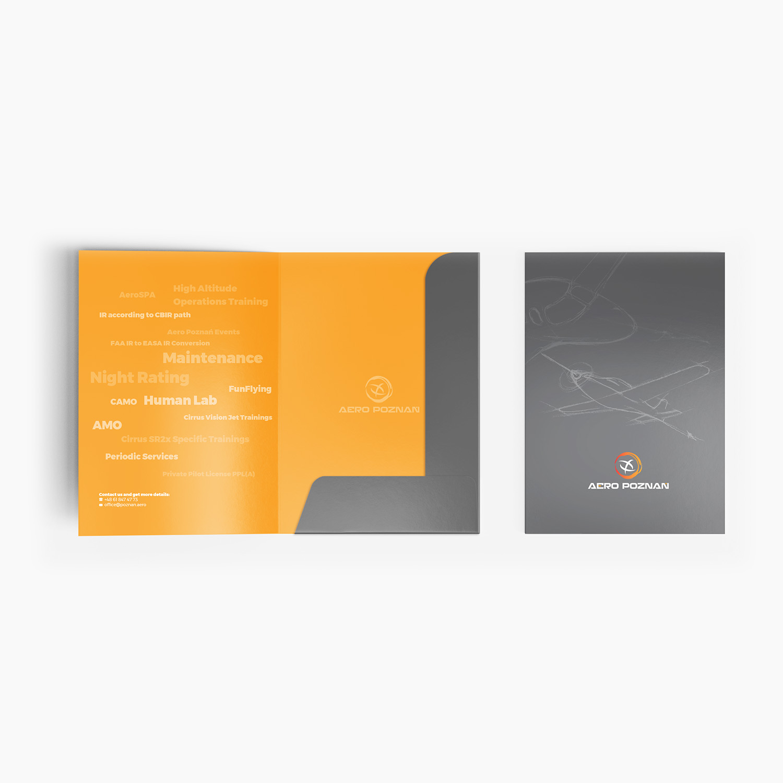 projekty graficzne, design teczka firmowa, ilustracja, concept art, key visual, aero poznan, cirrus aircraft, designer Ireneusz Bloch