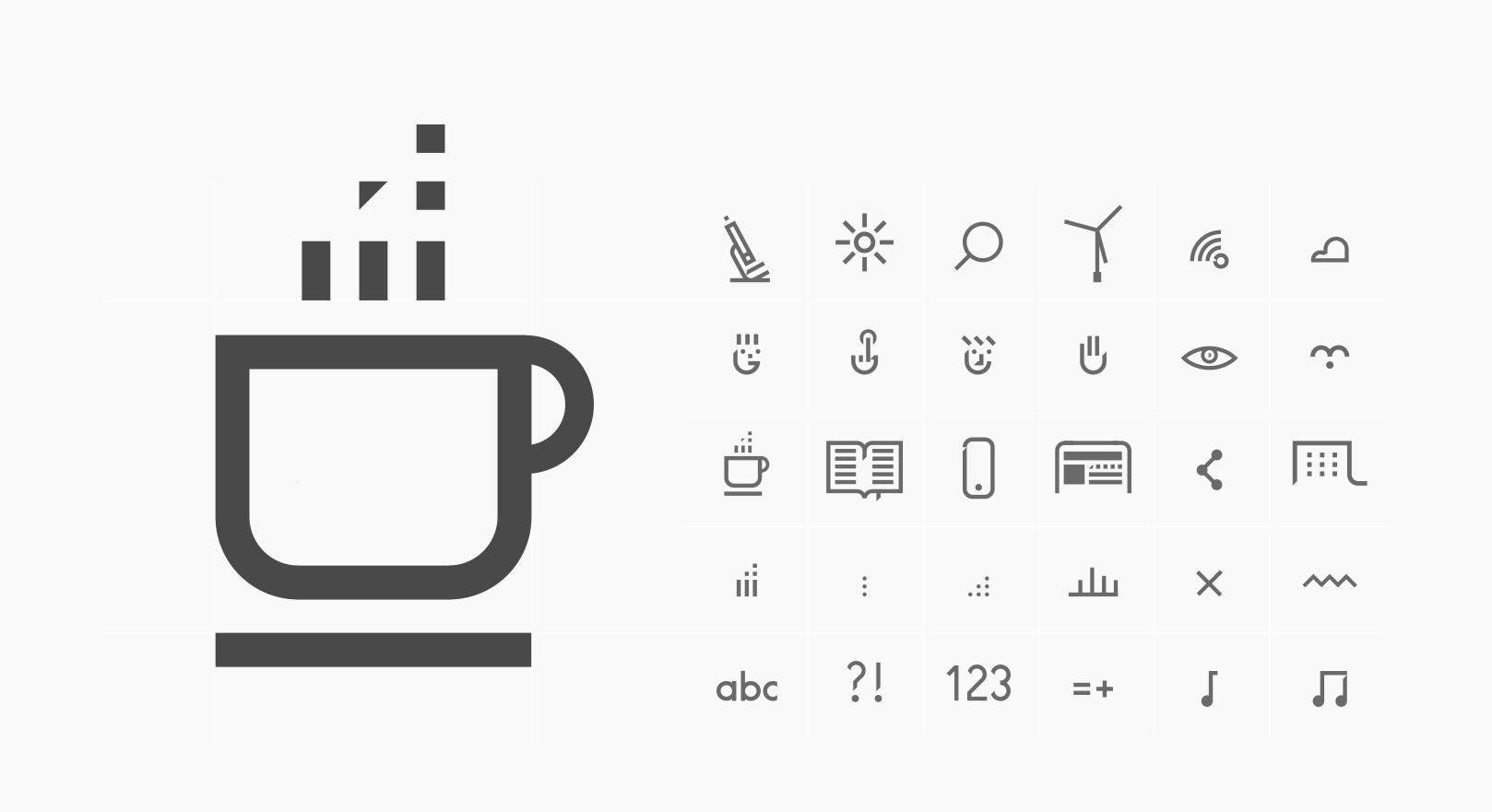 ikony, piktogramy - Dariah.lab - Identyfikacja wizualna