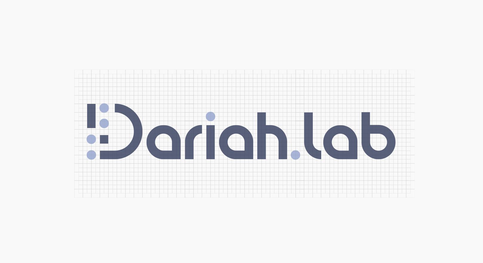 Dariah.lab - Identyfikacja wizualna - logotyp na siatce