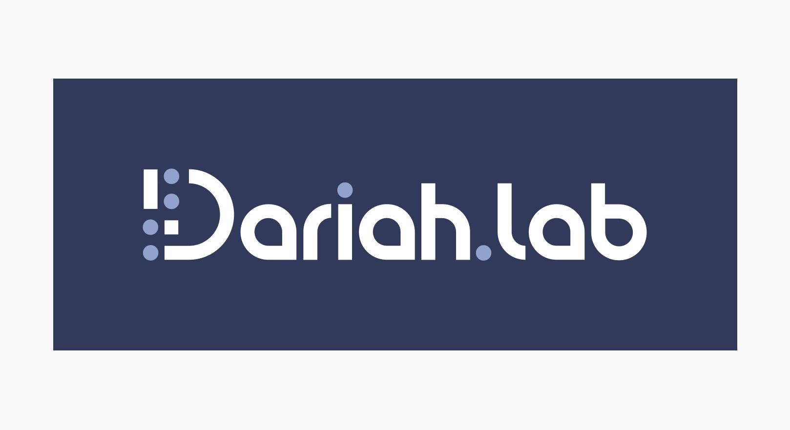 Dariah.lab - Identyfikacja wizualna - logotyp w kontrze