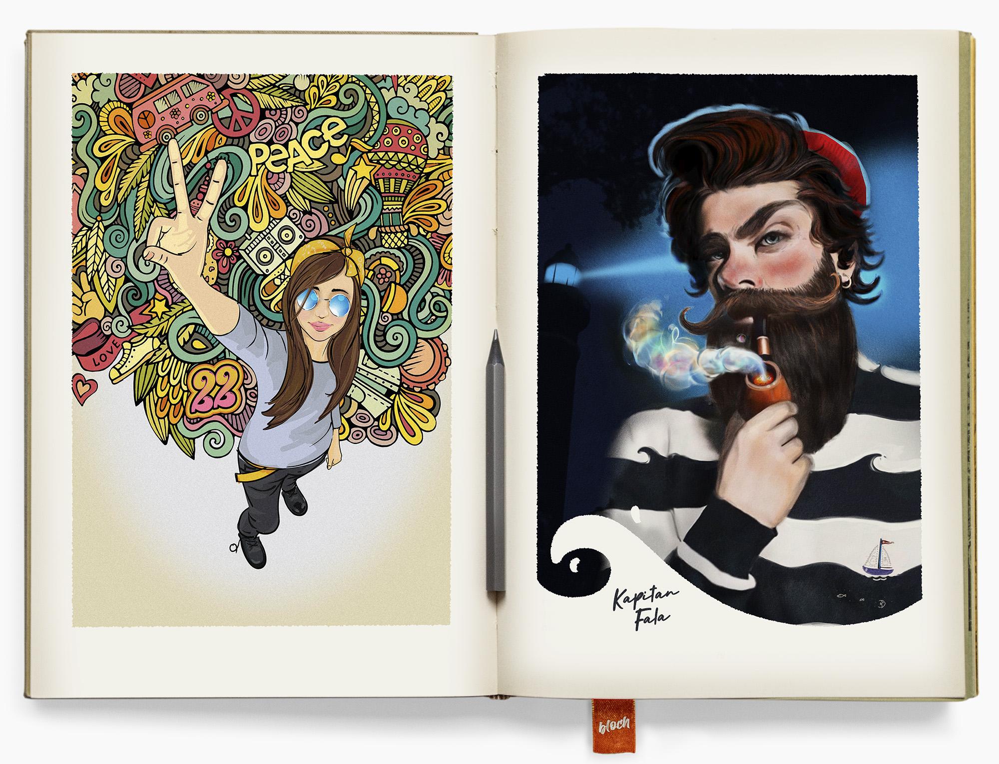 rysunki ilustracje komiks storyboard design digital draw